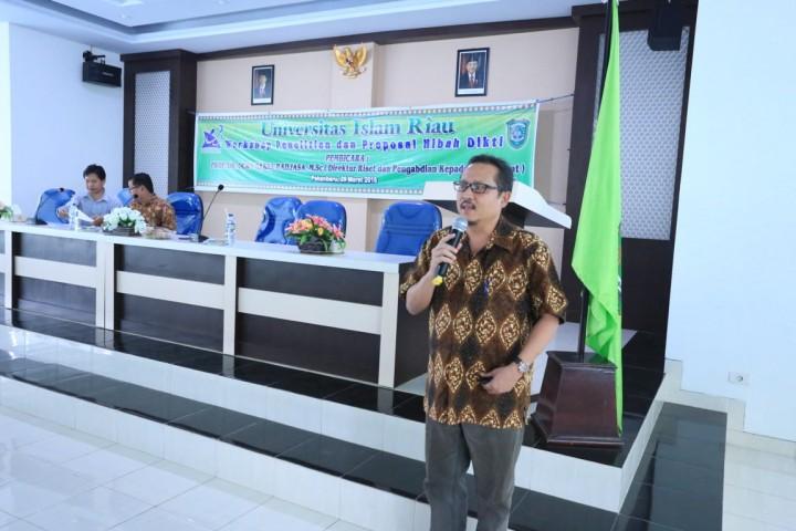 Workshop Lembaga Penelitian UIR