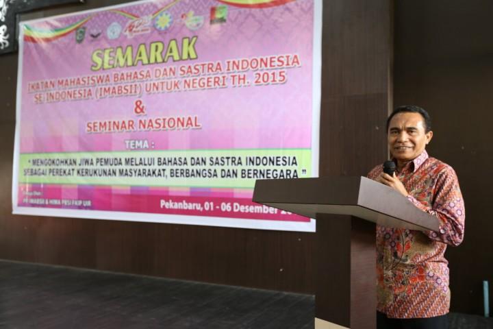 Pembukaan Semarak IMABSII Oleh Kepala Pembinaan Bahasa